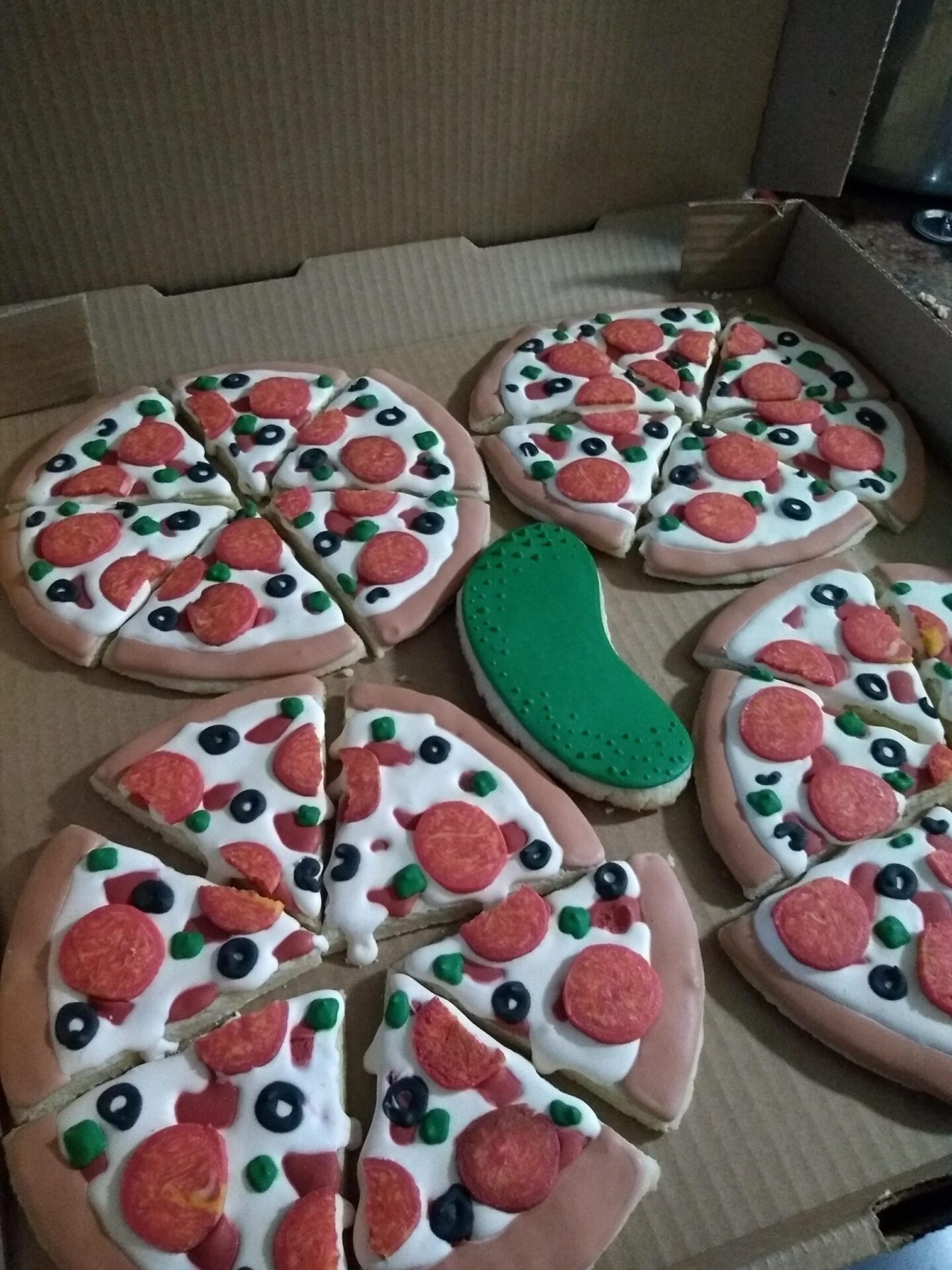pizza and pickles sugar cookies