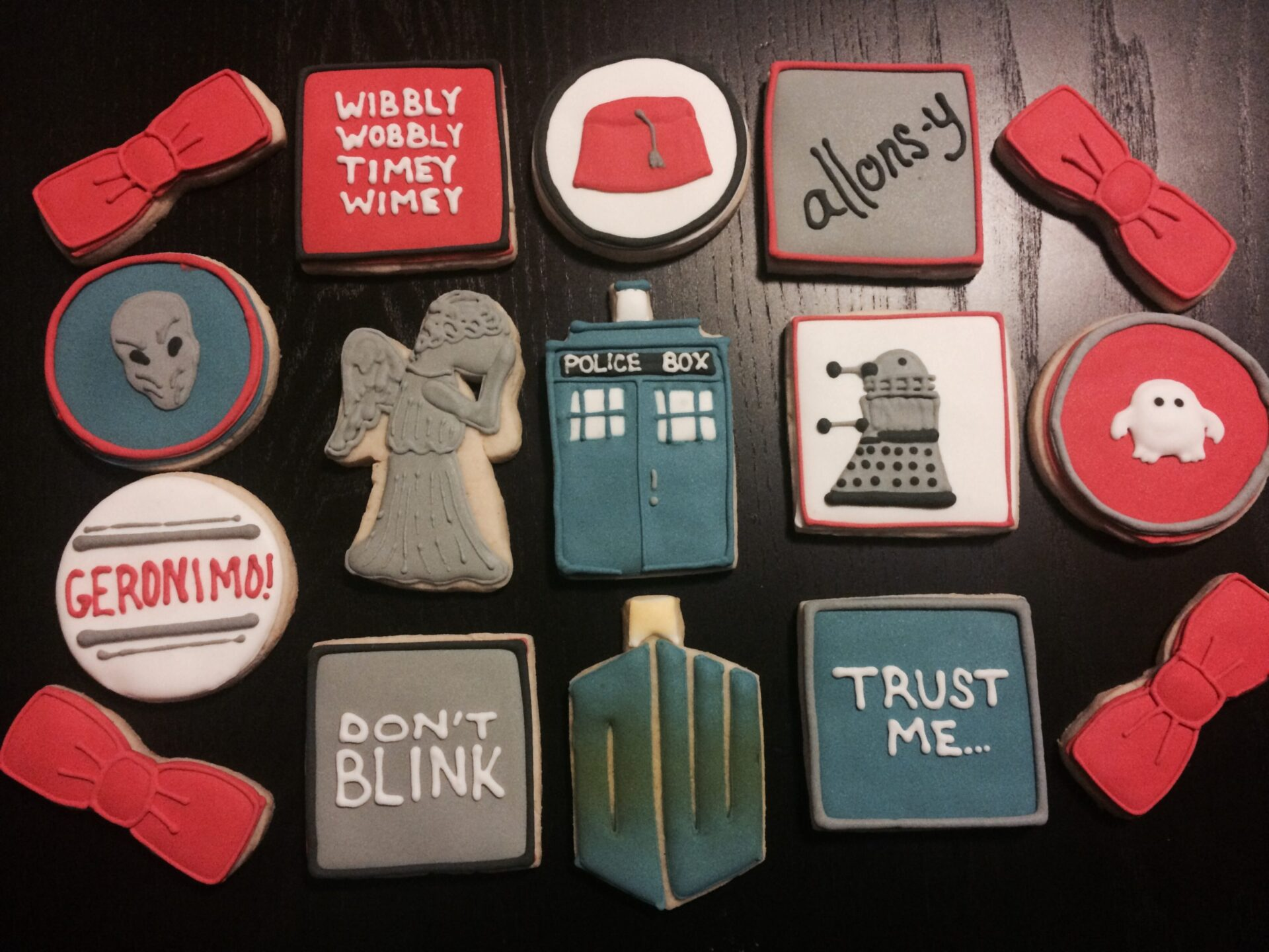Doctor Who sugar cookies royal icing