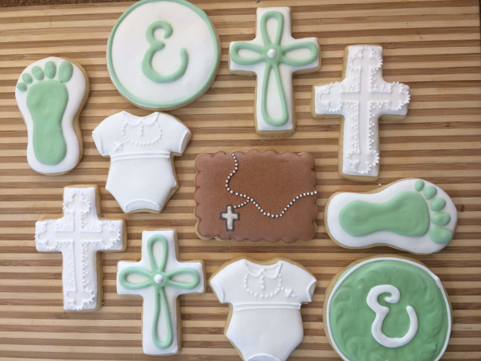 baptism sugar cookies royal icing