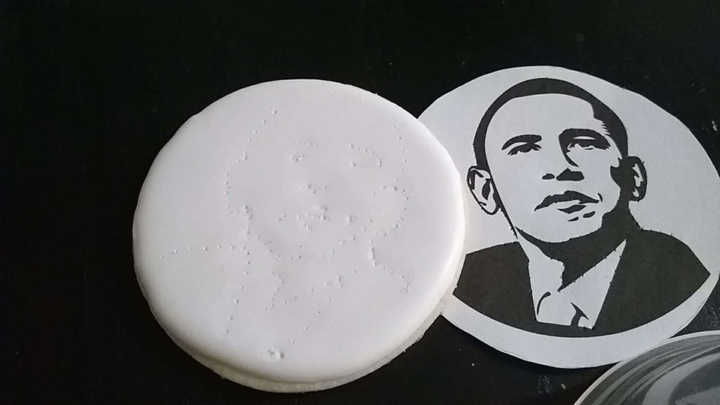 Obama cookie stipple guidelines