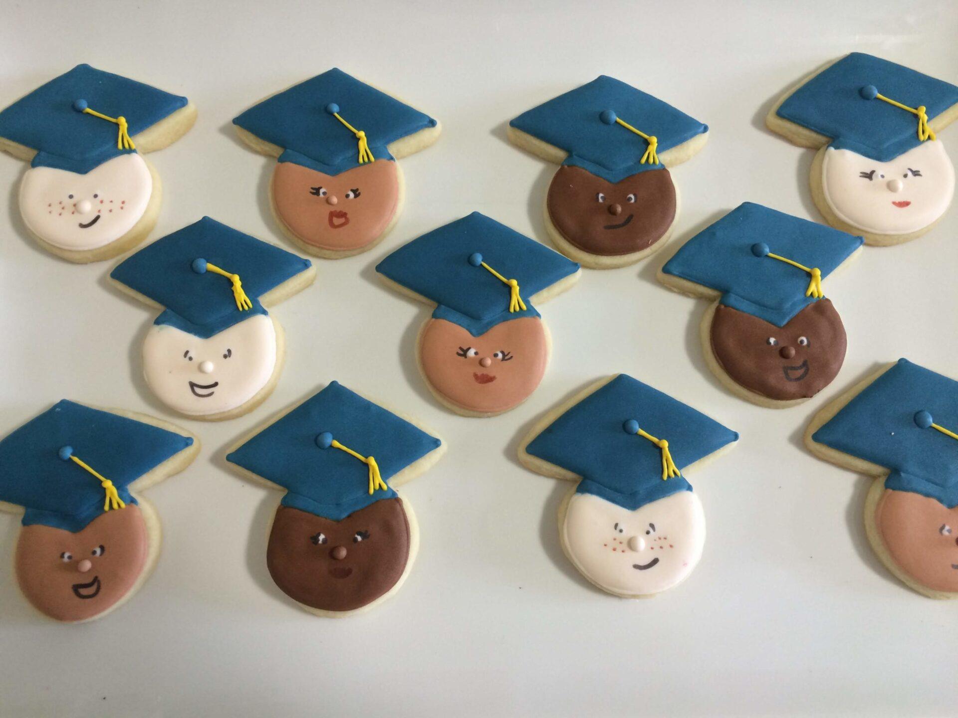 diverse graduates sugar cookies royal icing