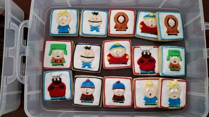 south park royal icing sugar cookies