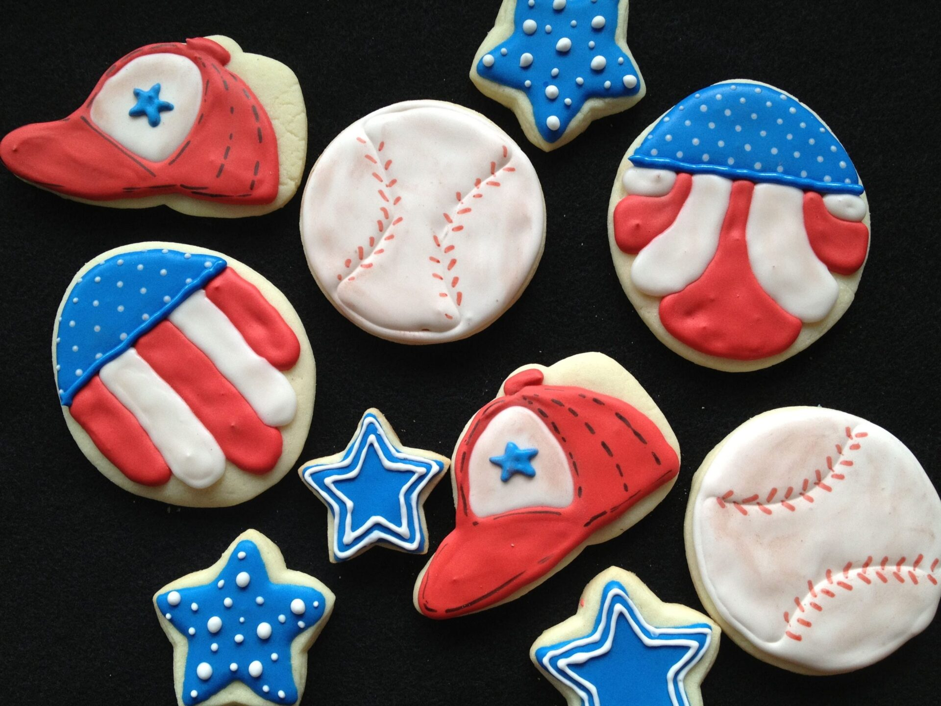americana royal icing sugar cookies