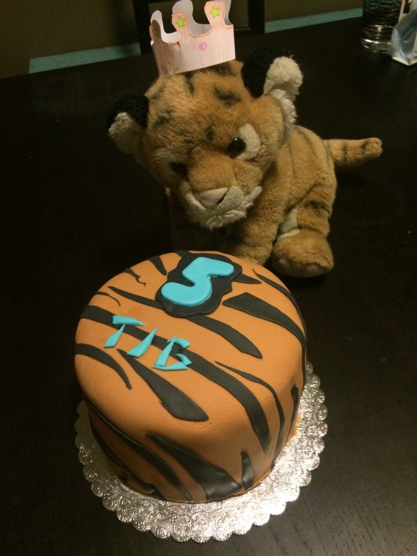 tiger stripe fondant cake animal print