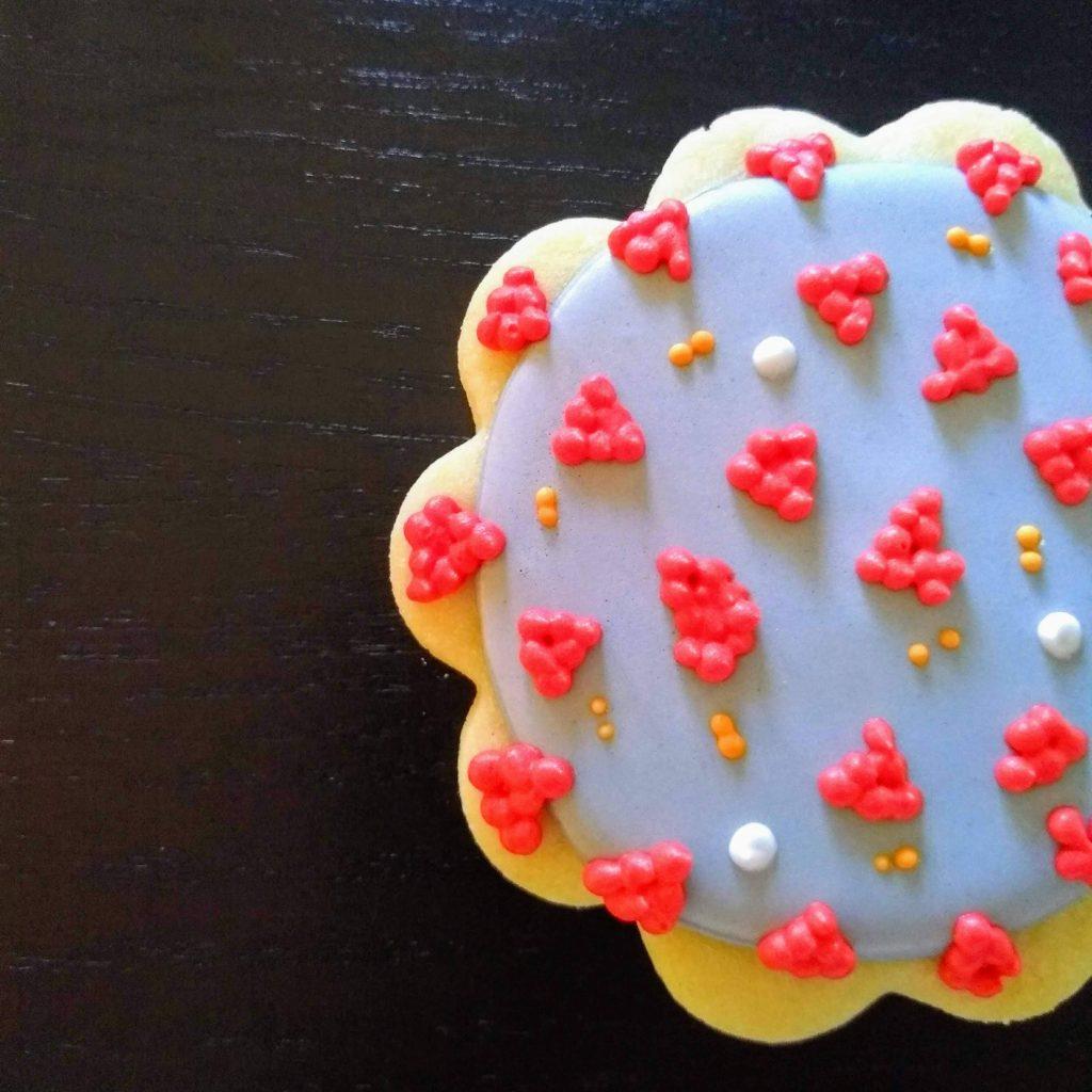 coronavirus cookies royal icing sugar cookie