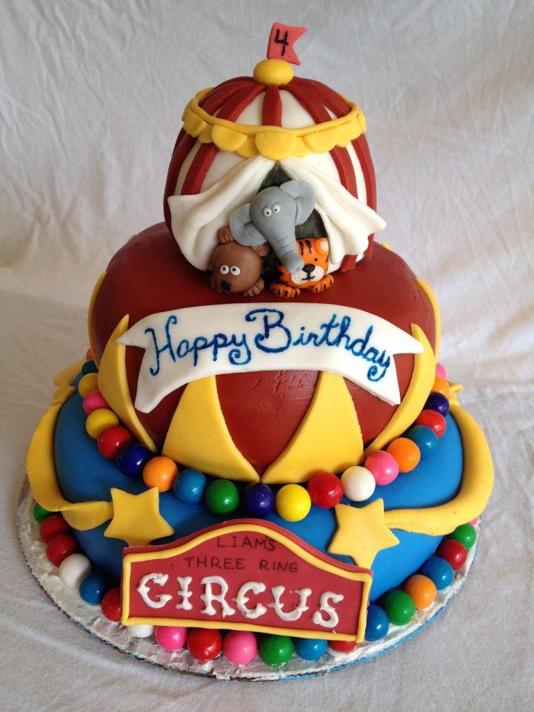 circus cake fondant