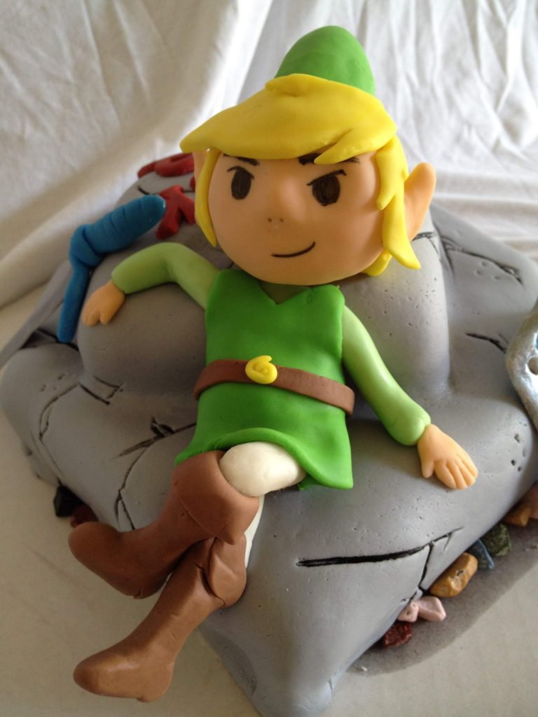 Legend of Zelda link cake fondant