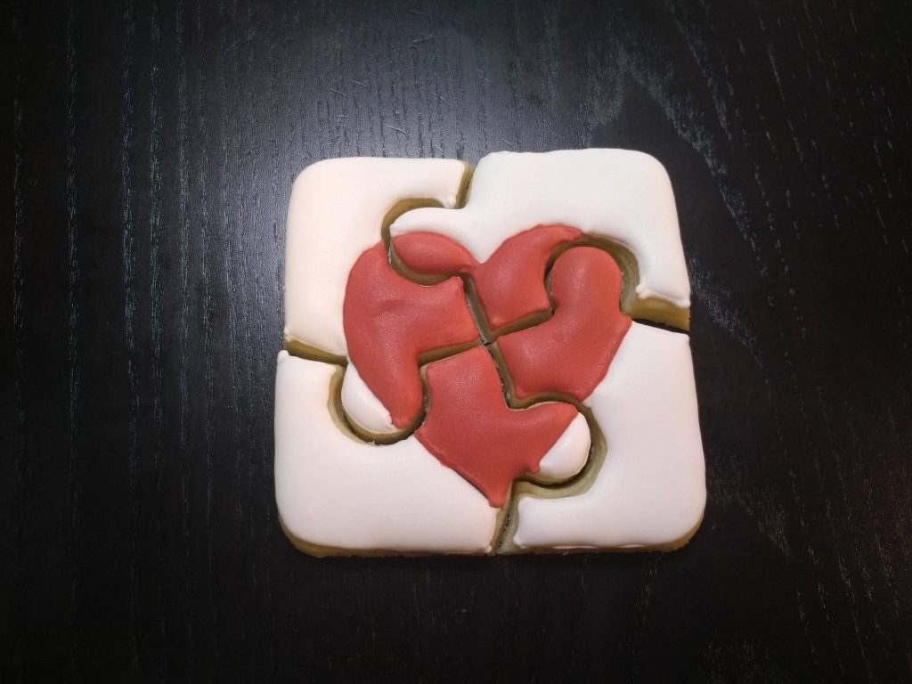 autism puzzle royal icing sugar cookies